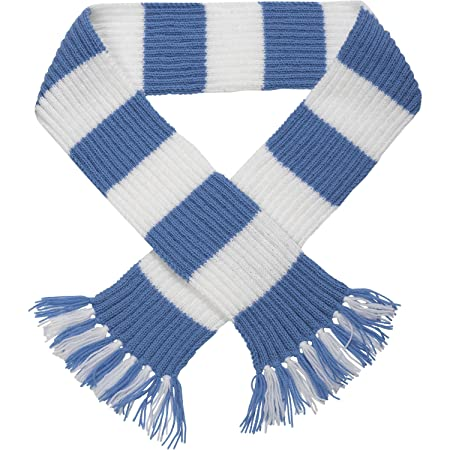 Striped Football Rugby Scarf Kit Knitting Pattern Wool Craft