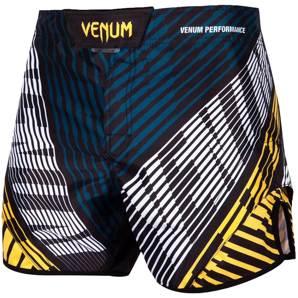 Venum Plasma Mid-Thigh MMA Fight Shorts - XL - Black/Yellow by Venum