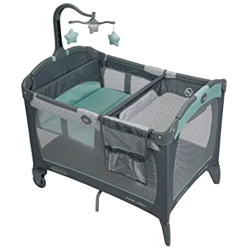 Corralito Para Bebés - Cuna/Cama Con Estación Cambiadora De Pañales