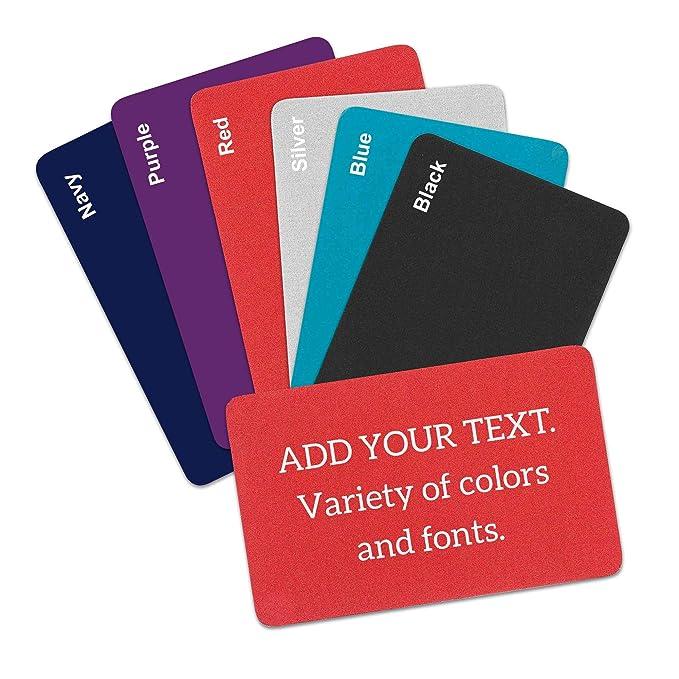 Amazon.com: Cartera de metal personalizable con tarjeta de ...