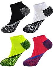 LOFIR Corto Compresión Running Socks para Hombres Arch Support Los calcetines atléticos del tobillo al aire