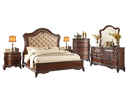 Amazon.com: Bautistia Italian Country 6PC Bedroom Set Queen ...