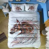 Hihotel 3D Watercolor Animal Print Bedding Sets