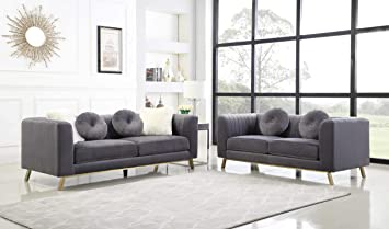 Amazon.com: Best Quality Furniture S450 2PC Sofa + Loveseat ...