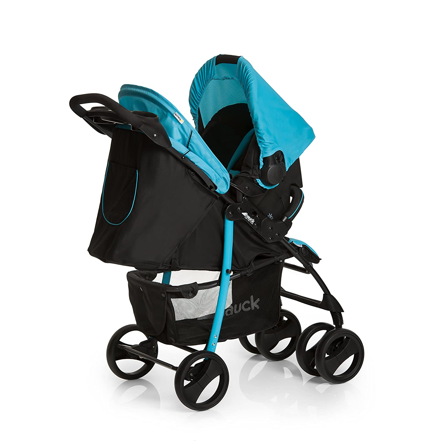 Hauck Shopper Shop-n-Drive Set Lightweight Travel System, from Birth, Grey (Car Seat, Foot Muff, Change Bag and Raincover) H-15276