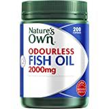 Nature's Own Odourless Fish Oil 2000mg - Source of Omega-3 - Maintains Wellbeing - Supports Healthy Heart & Brain