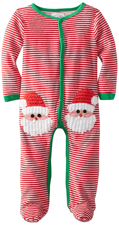 3b52798aad Amazon.com  Mud Pie Baby-Boys Newborn Velour Santa One Piece