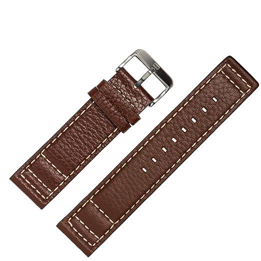 Correa de reloj Tommy Hilfiger 22 mm cuero original colour - compatible con modelo relojes 1790684 - correa de acero-broche - repuesto original exclusivo de ...