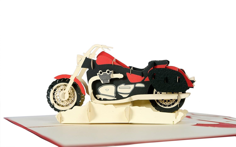 Geschenkkarten Geburtstagskarte Motorrad Gl/ückwunschkarten Karte Geburtstag T17 Gl/ückwunschkarte oder Gutschein f/ür Motorrad-F/ührerschein