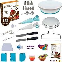 Ultimate Cake Decorating Kit – 151 pcs Cake & Cupcake Decoration Supplies Set with Cake Decorating Turntable, Easy to…