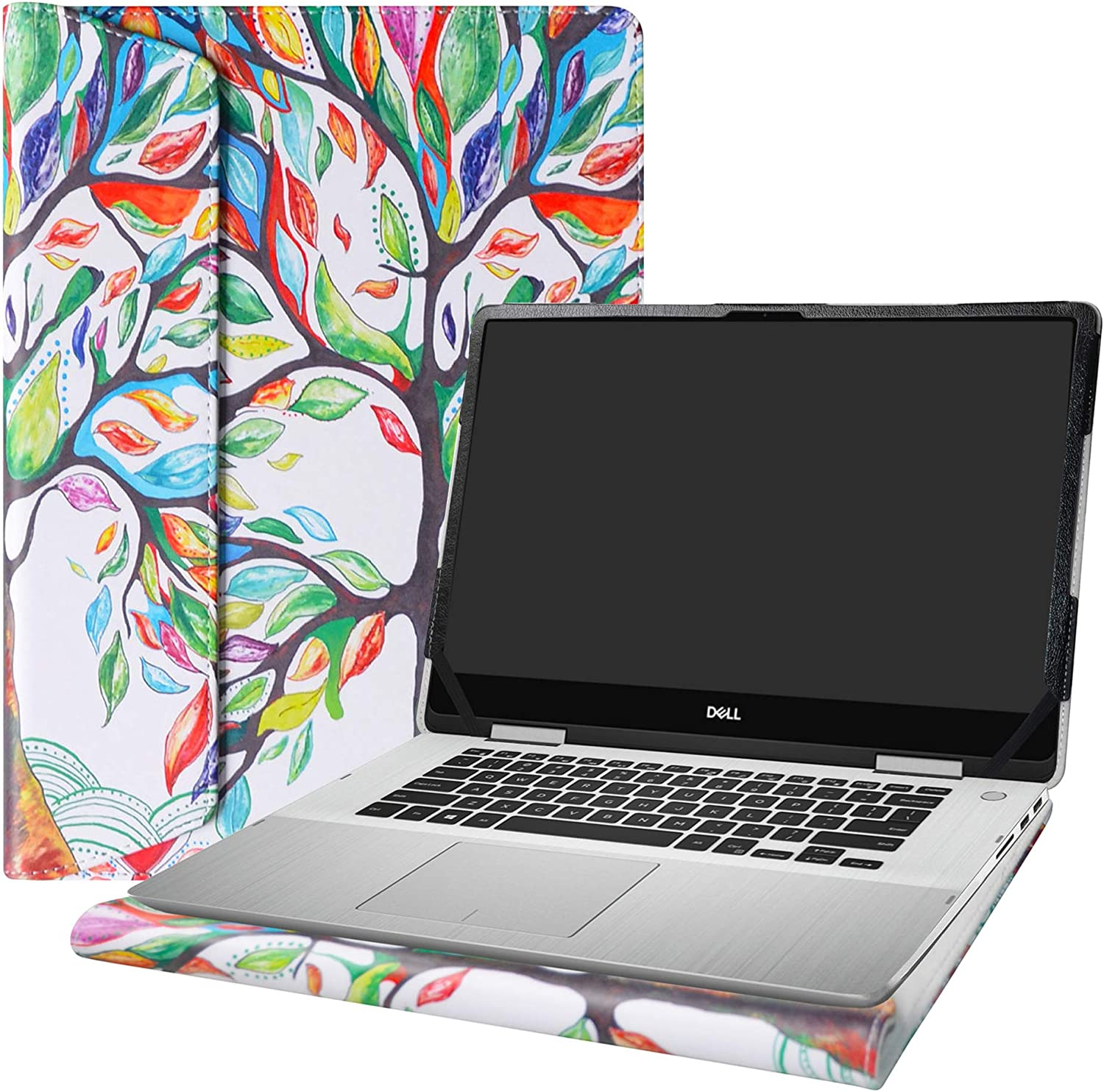 """Alapmk Protective Case Cover for 15.6"""" Dell inspiron 15 2-in-1 7586 i7586 & Acer Aspire 7 15 A715-73G Laptop[Note:Not fit inspiron 15 7580/Aspire 7 A715-74G A715-71G A715-72G],Love Tree"""