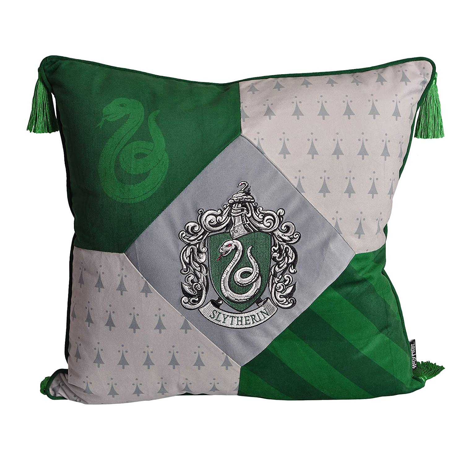 Cojín Harry Potter Slytherin con borlas 48x48cm Elbe Bosque ...