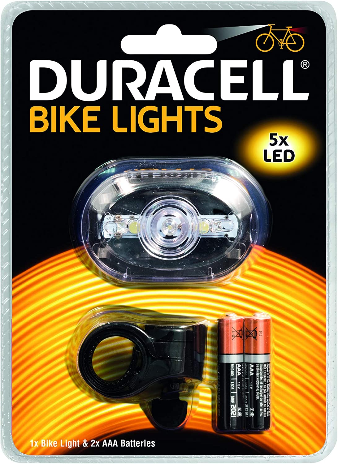 Duracell Front Bike Lights LED Bright Bicycle Light BIK-F03WDU