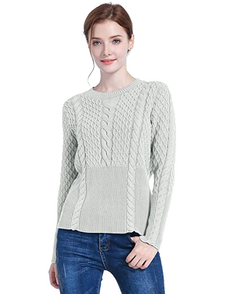 9c2aaea6864 v28 Women's Girl Crew Neck Knit Ribbed Long Sleeve Jumper Pullover Sweater
