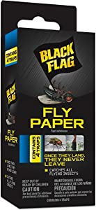 Black Flag HG-11016 Fly Paper, Insect Trap, Ready-to-Use, 4-Count, 24, clear