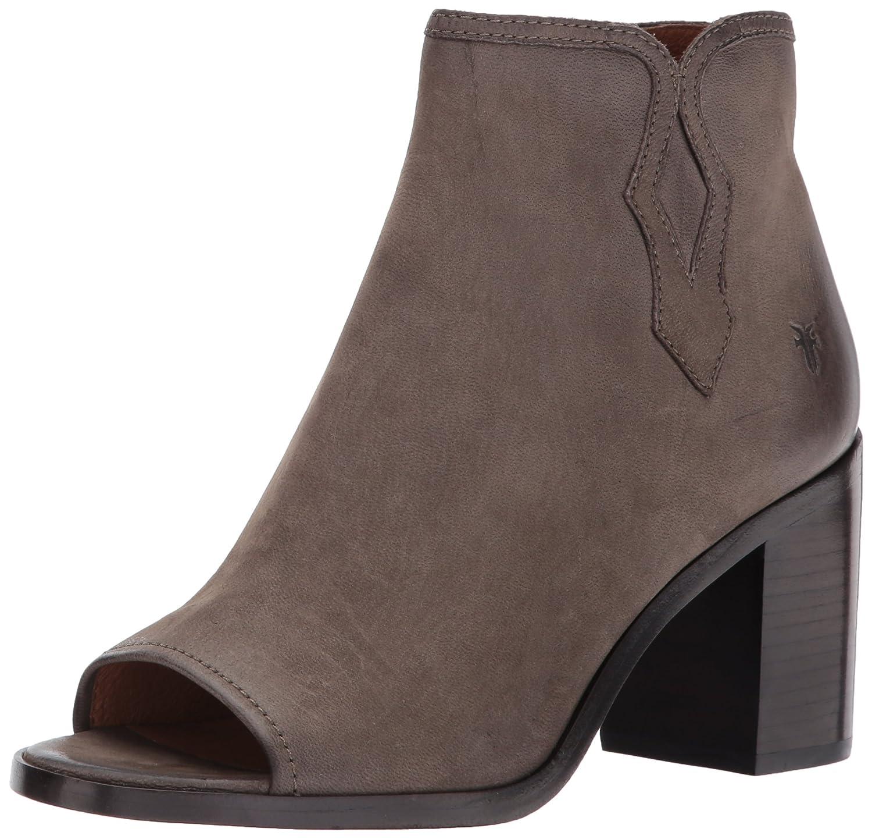 FRYE Women's Danica Peep Bootie Boot B01N1YQJWE 8 B(M) US|Grey Nubuck