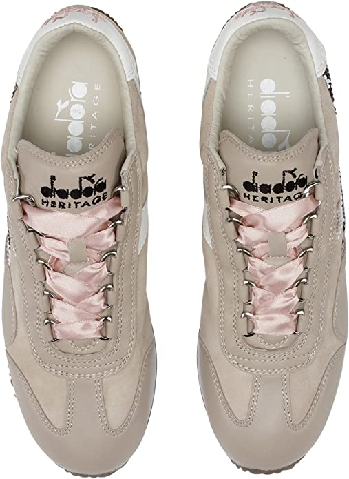 Diadora Heritage, Donna, Equipe W HH Pearls, Pelle, Sneakers, Marrone