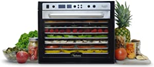 Tribest 9 Stainless Steel Trays SDC-S101-B Sedona Supreme Commercial Food Dehydrator, White, 17