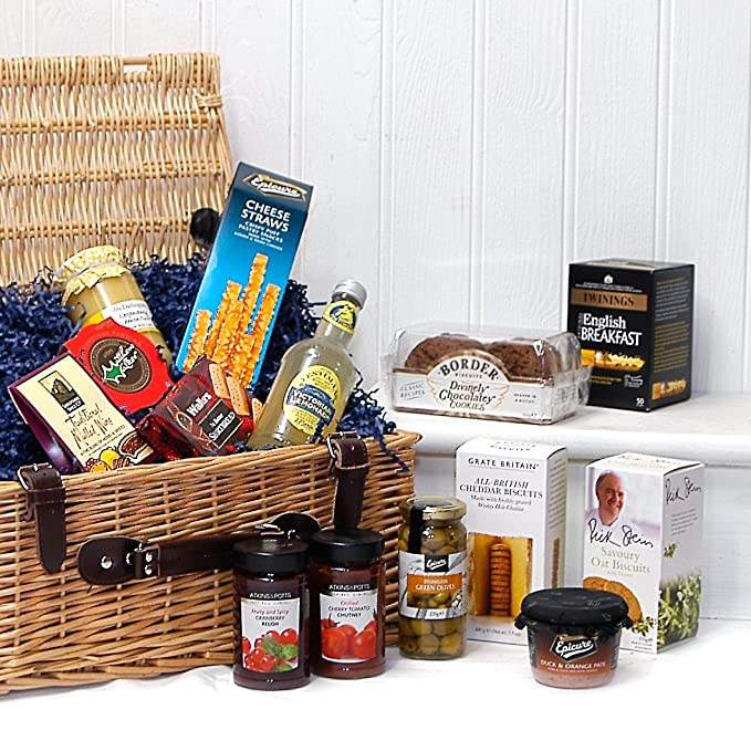 Luxury Wicker Gift Hamper Basket With 14 Items From Fine Food Store Ideas For ChristmasFathers DayValentinesPresentsBirthdayMenHimDadHer