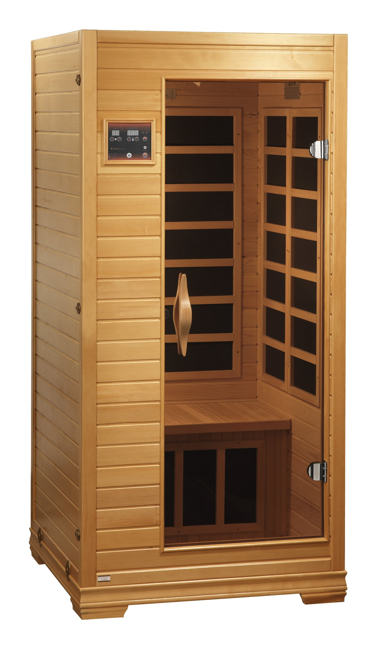 BetterLife BL6109 1-2 Person Carbon Infrared Sauna with ChromoTherapy Lighting, Natural Hemlock Wood Finish