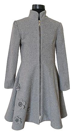 hot sale online afd1a f210f Mädchen Wollmantel mit Reißverschluss, grau, Rafaela Coats