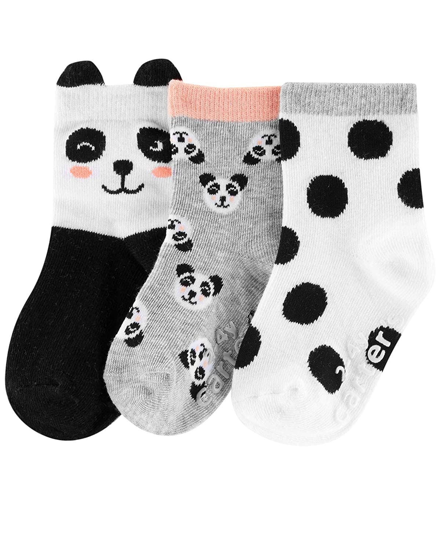 Carters Baby Girls 3-Pack Crew Socks Booties