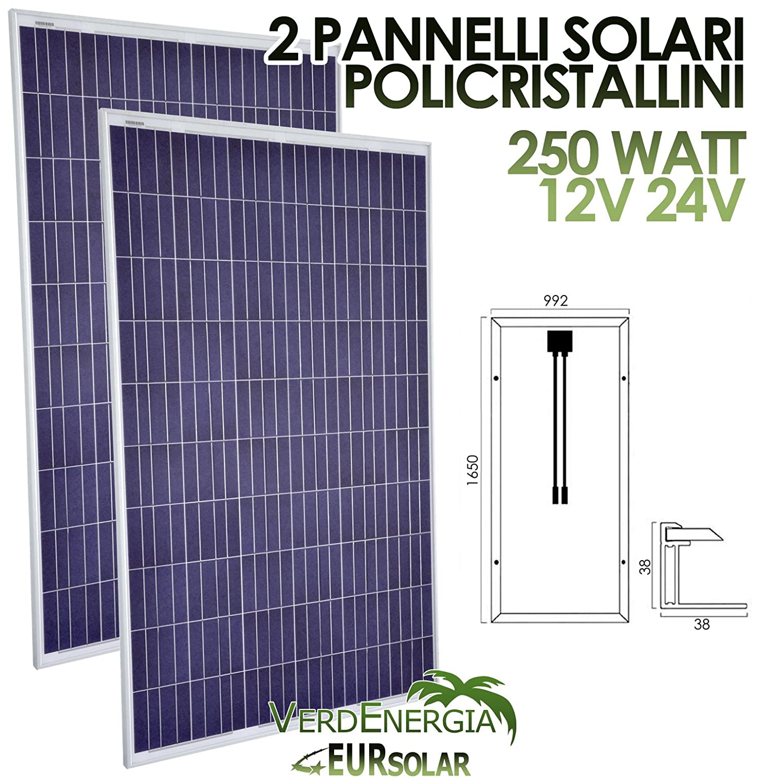 Kit von 2Solarpanel 250W Solarmodul Polykristallin 12V 2Stk * 250W für Camper Boot Hütte eursolar