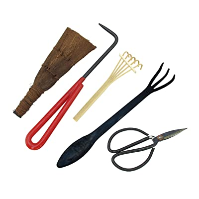 BambooMN Bonsai Tool Kit 5pc Basic Care Set: Garden & Outdoor
