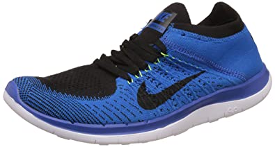 Nike Men's Free 4.0 Flyknit Blue Running Shoes - 7.5 UK/India (42 EU