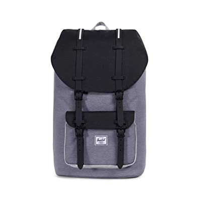 Mochila Herschel Little America Mid Grey Crosshatch/Black/Light Grey Crosshatch: Amazon.es: Zapatos y complementos