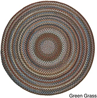 product image for Rhody Rug Augusta Round Braided Wool Rug (8' x 8') Green