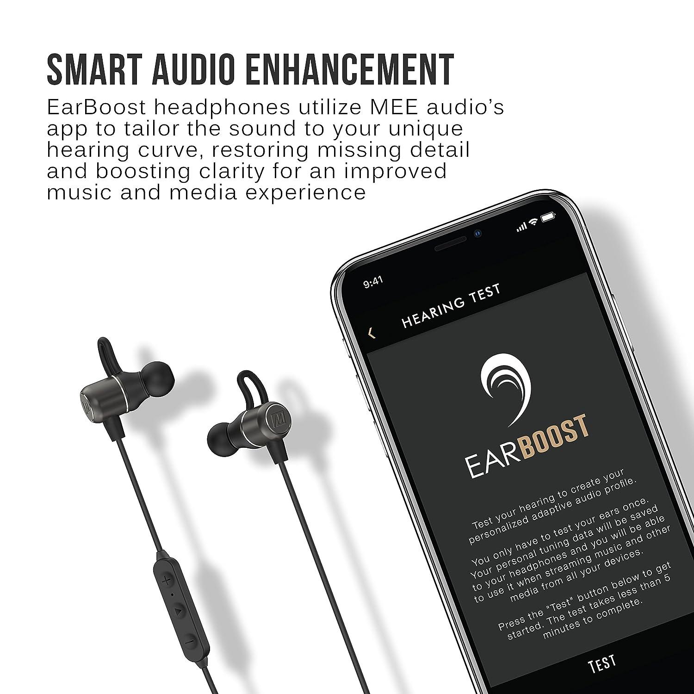 409e1242139 Amazon.com  MEE audio EarBoost EB1 Bluetooth Wireless Adaptive Audio  Enhancement Earphones with Companion app  Electronics