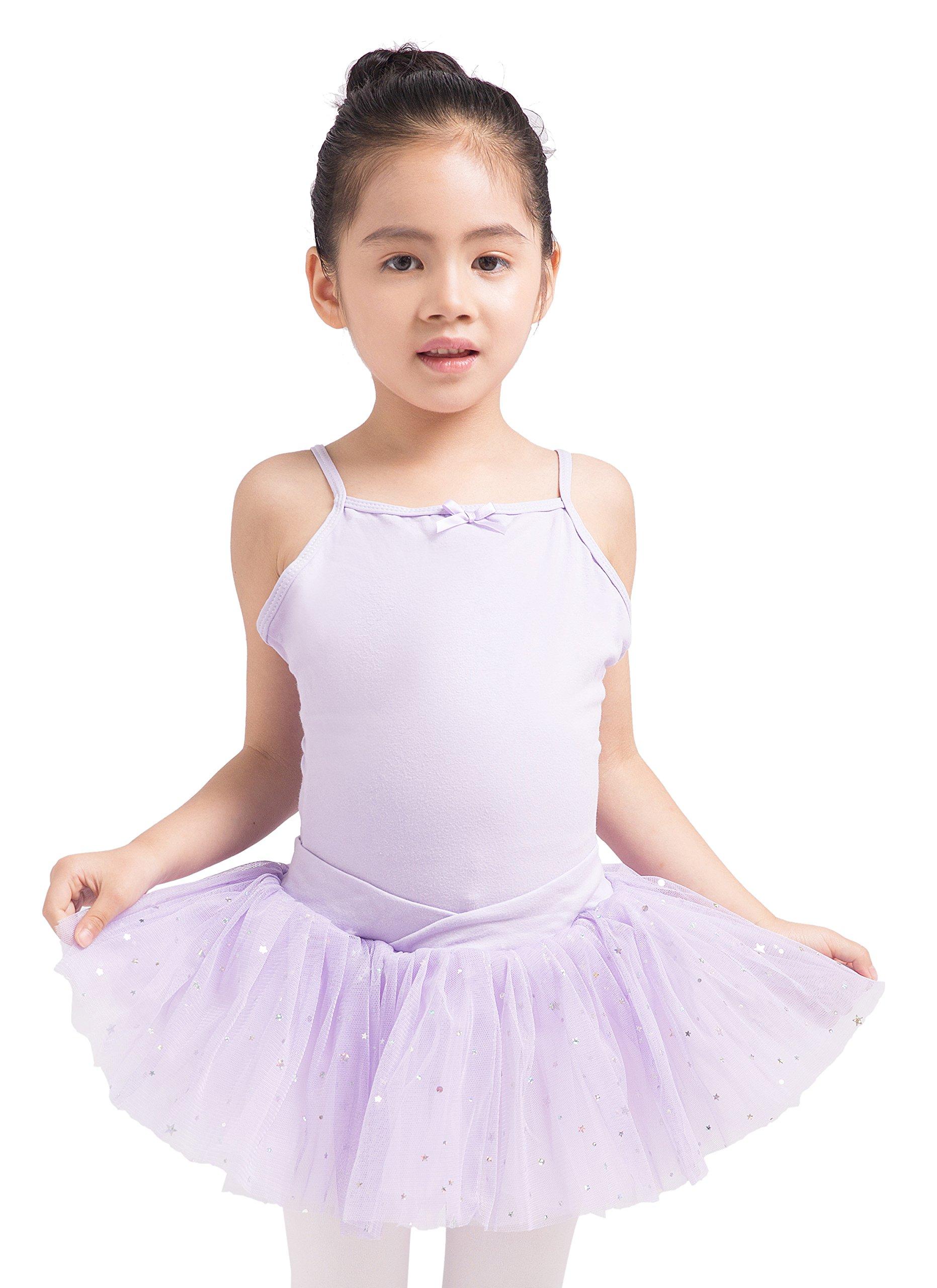 Dancina Leotard Camisole Ballet Tutu Dress Future Ballerina Dance Class Birthday Gift Outfit 4 Lavender