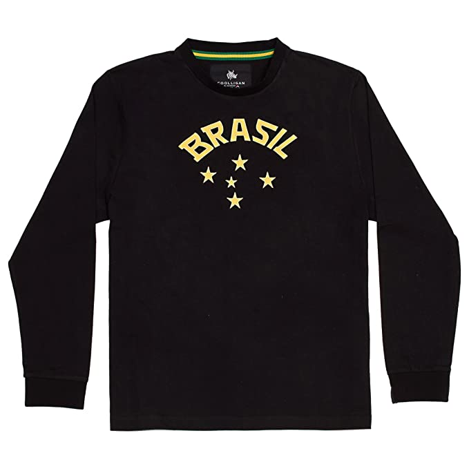 Coolligan - Camiseta de Fútbol Retro 1952 Brazil Goalkeeper - Color - Negro - Talla -