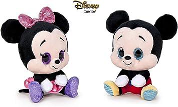 Dsney Famosa Softies - Pack de 2 Peluches Mickey y Minnie Glitzies ...
