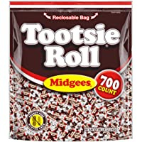700-Count Tootsie Roll Original Chocolatey Twist Midgees Halloween Candy in Resealable Stand-up Bag