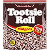 Tootsie Roll Original Chocolatey Twist Midgees, Resealable Stand-up Bag, 700-Count, Peanut Free, Gluten Free