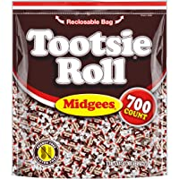 Tootsie Roll Original Chocolatey Twist Midgees, Resealable Stand-up Bag, 700-Count Halloween Candy Trick or Treat Pumpkin Filler, Peanut Free, Gluten Free