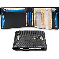 TRAVANDO ® Portafoglio Uomo con Clip per Contanti ZURICH - 11 Tasche per la Carte - Porta carte di credito - Protezione RFID - Regalo perfetto per gli Uomini - Confezione Regalo - Designed in Germany