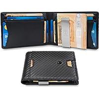 TRAVANDO ® Portefeuille Homme Pince à Billets Bogota - 11 Rangements Cartes - Blocage RFID - Cadeau Parfait Hommes - Coffret Cadeau - Designed in Germany