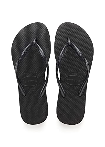5e36e6cf5dc4ff Image Unavailable. Image not available for. Color  Womens Havaianas Slim  Flip Flop Sandals - Black ...