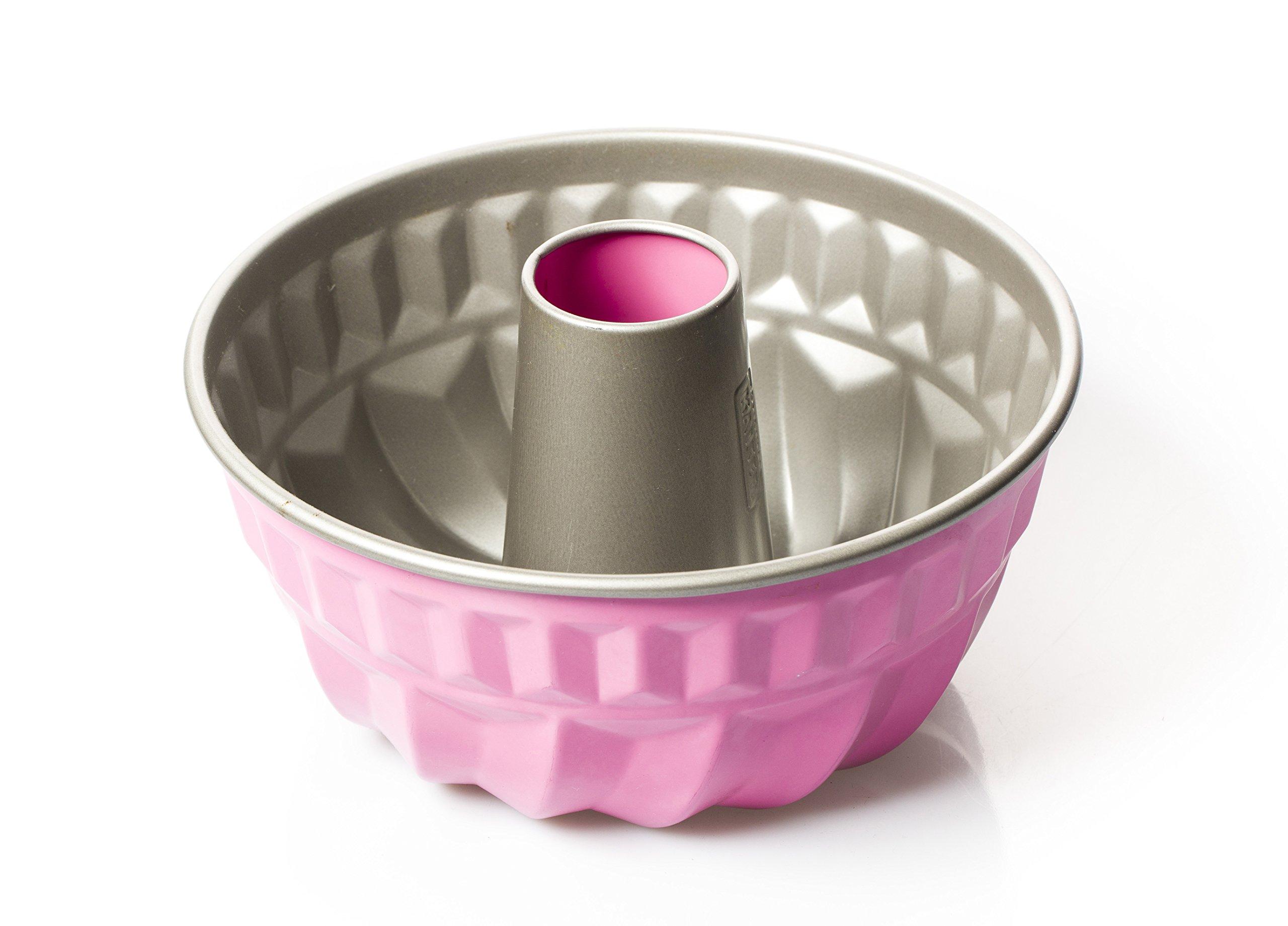 Bundt Pan Non-stick Finish Pink Professional Looking Desserts (Pink)