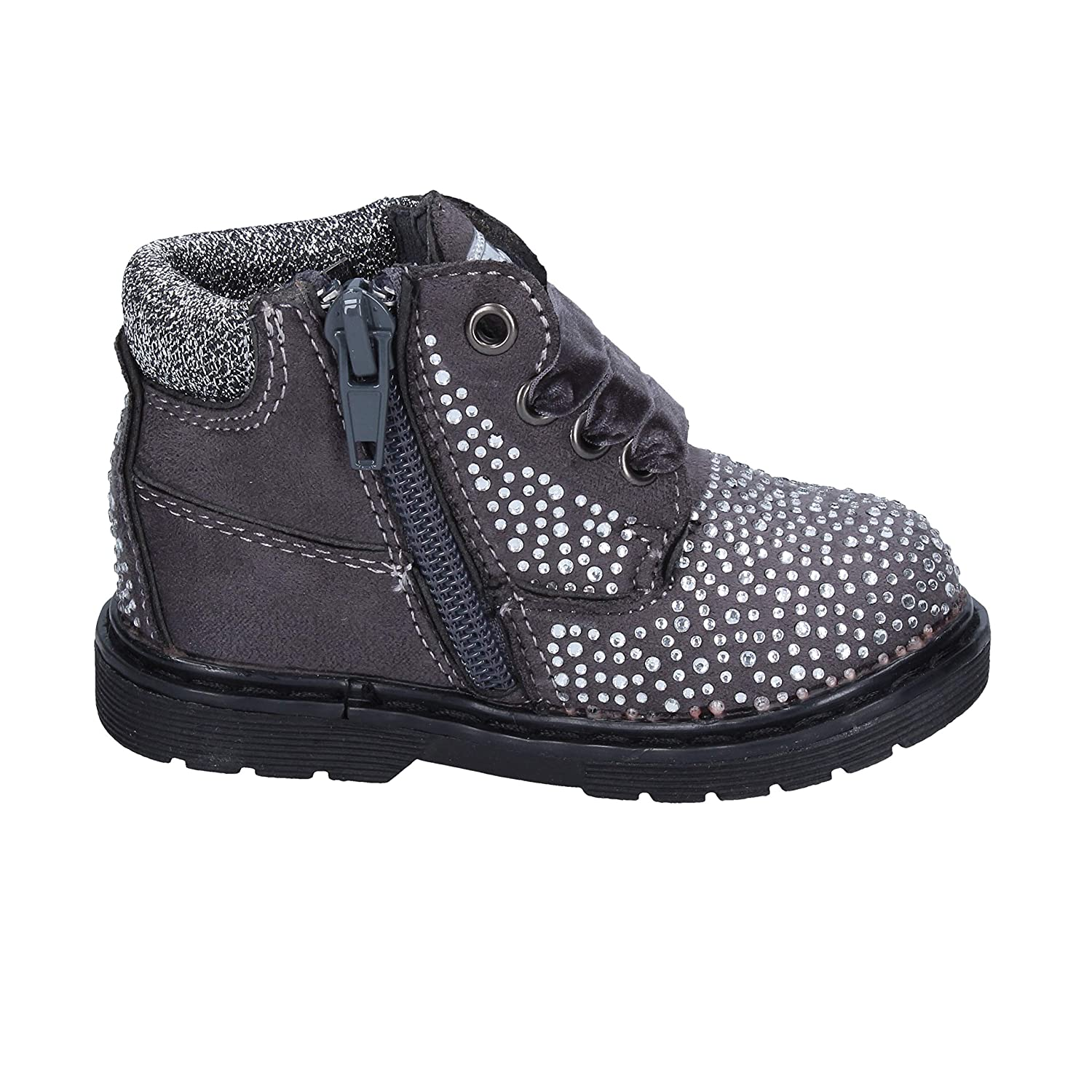 ASSO Boots Baby-Girls Suede Grey