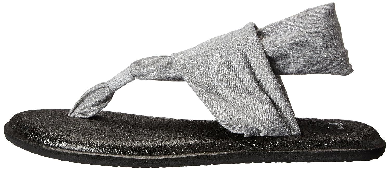 Sanuk Women's Yoga Sling 2 Metallic Flip Flop M 8 M Flop US|Silver B00OGS9KTE fb705b