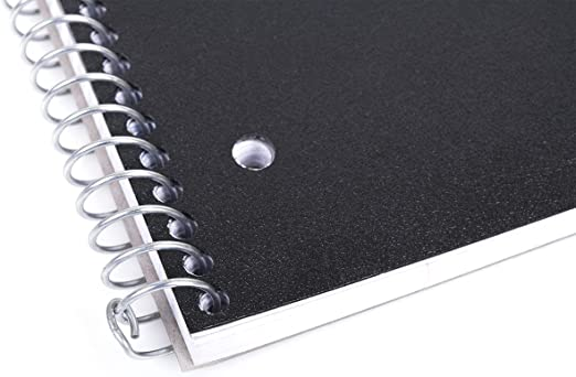 Professional Office 1 Subject Poly Pocket School Mintra Office Durable Spiral Notebooks Black, 4x4 Graph 1pk Moisture Resistant Cover 100 Sheets Business