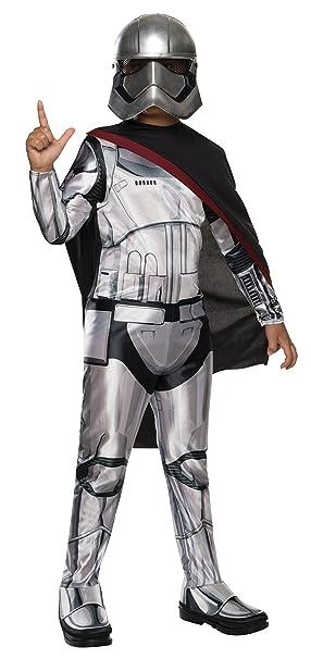 Star Wars - Disfraz de Capitán Phasma Deluxe para niño, S (3-4 ...