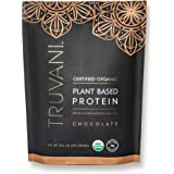 TRUVANI - Plant Based Protein Powder - USDA Certified Organic Protein Powder, Vegan, Non-GMO, Gluten Free Protein Powder | Perfect for Rebuilding & Refuelling Muscles | 670 Grams - Chocolate