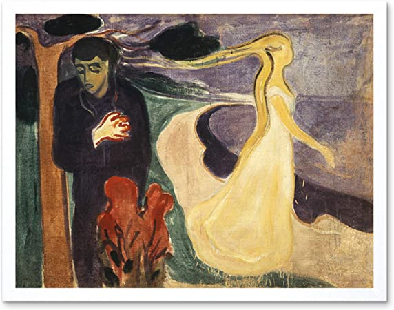 Anxiety By Edvard Munch Canvas Fine Art Print Framed Picture