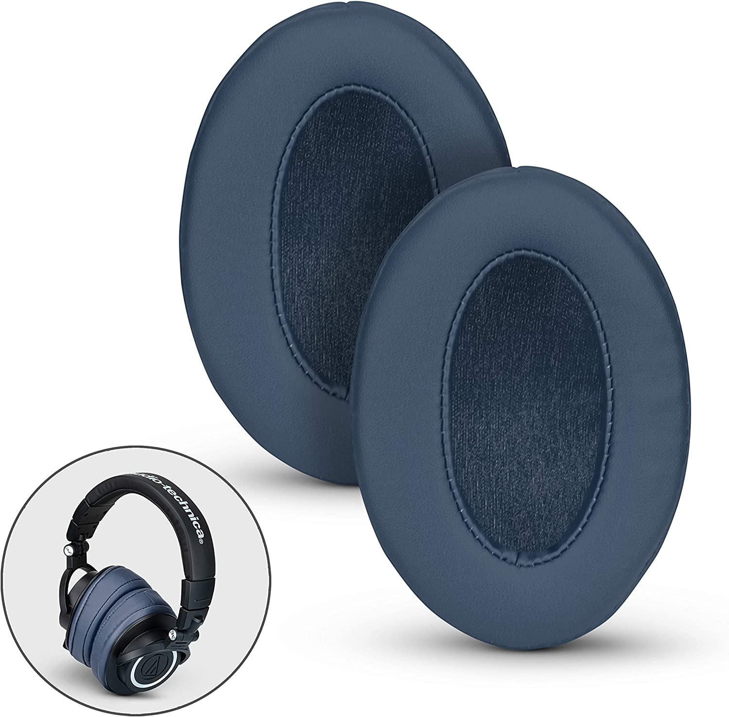 Pro Black See List HyperX JBL M30X AKG BRAINWAVZ Angled Ear Pads for ATH M50X M50XBT Fostex Replacement Memory Foam Earpads /& Fits Many Headphones SHURE M40X Philips Turtle Beach ATH