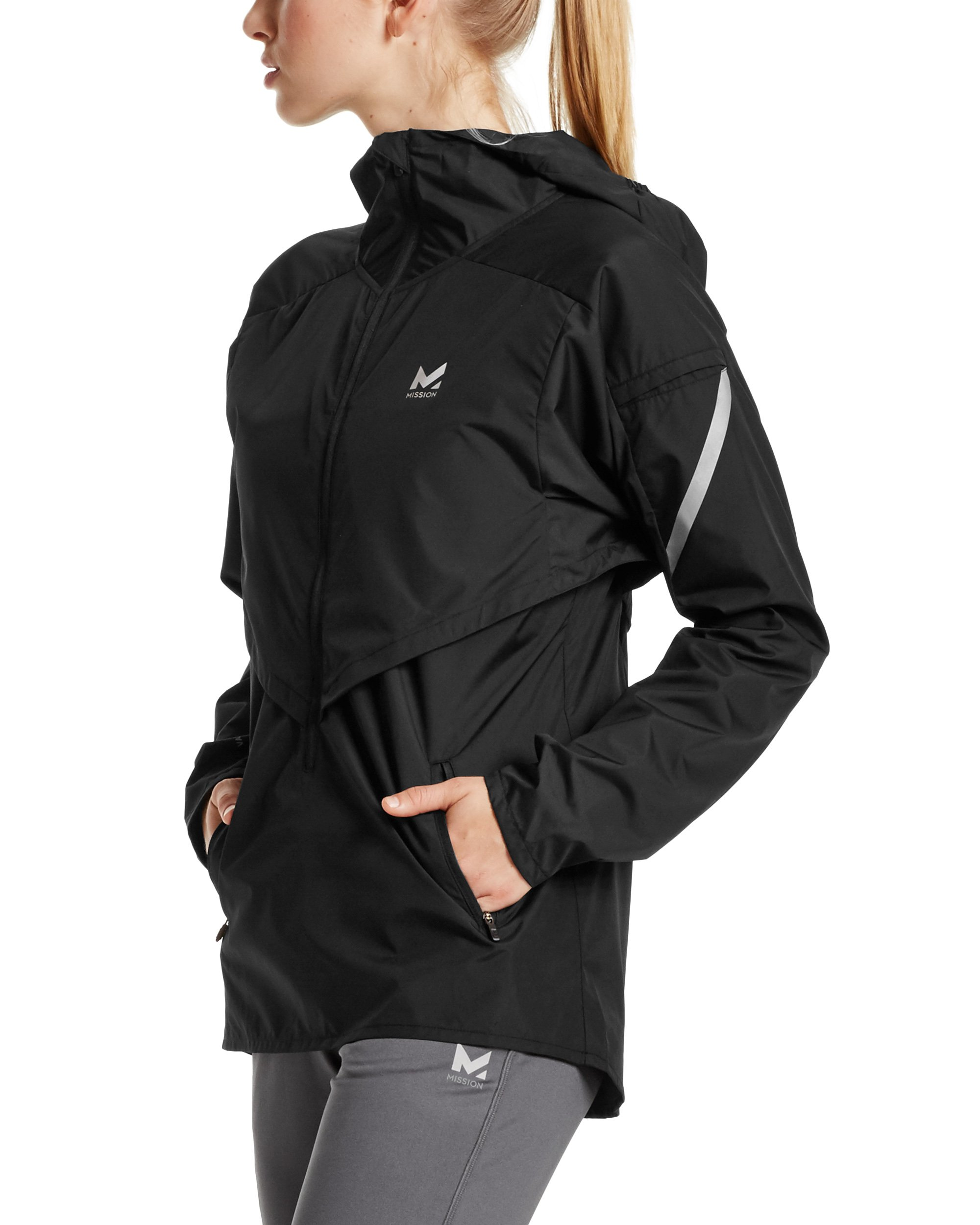 Mission Women's VaporActive Barometer Running Jacket, Moonless Night, Large by MISSION (Image #3)